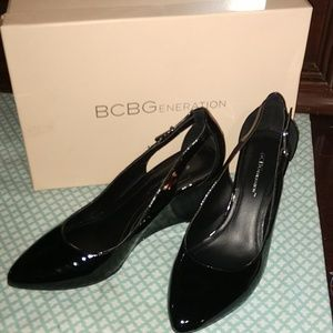 Black BCBG Wedges